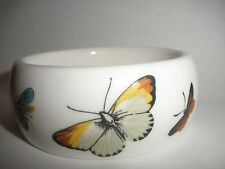 Kenneth J Lane Royal Worcester Fine Bone China butterfly Bangle Bracelet England