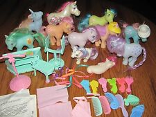 VINTAGE LOT OF 11 MY LITTLE PONY~1 SEA PONY~PERM SHOPPE PIECES & ACCESSORIES