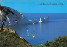 BR90263 the needles isle of wight cable train lighthouse  uk