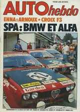 AUTO HEBDO n°24 du 29 Juillet 1976 24h de SPA ENNA F2