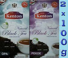 CEYLON TEA - KENTON TEA 2 X 100g - OPA & PEKOE LOOSE TEA - LEAF TEA - BLACK TEA