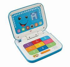 Fisher-Price Laugh and Learn Smart Stages Laptop, Blue/White, Blue/White