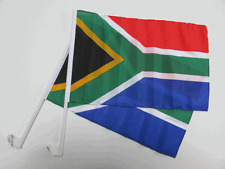 SOUTH AFRICA CAR WINDOW FLAG - 2 PACK NEW