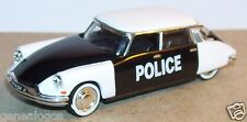 UNIVERSAL HOBBIES UH idem NOREV METAL HO 1/87 CITROEN DS 19 POLICE PIE 1958