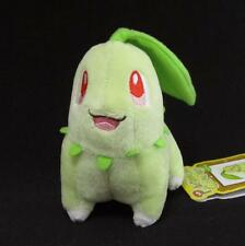 Pokemon Center Chikorita Canvas Plush Stuffed Doll 2011 MINT Pokedoll Japan