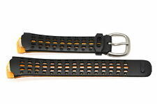 NIKE TRIAX SPEED 100 REGULAR BLACK YELLOW REPLACEMENT RUBBER WATCH BAND