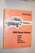 1988 Toyota Tercel Sedan Factory Service Manual Original Shop Repair Book