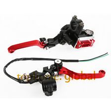 "CNC 7/8"" Brake Master Cylinder Reservoir levers set For Honda CRF150R 2007-2014"
