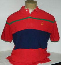 POLO RALPH LAUREN MEN'S SHORT SLEEVE POLO/RUGBY SHIRT SIZE X-LARGE 100% COTTON