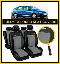 FORD FOCUS Mk2  2004 - 2010  FULLY TAILORED SEAT COVERS  full set LEATHERETTE