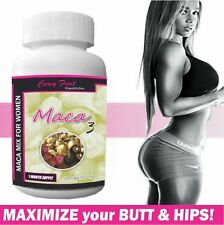 Maca 3 Capsules ONLY For Women:Red,Black&Yellow Mix for BIGGER Butt and Hips