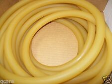 8 Continuous Feet 1/2 I.D x 1/8 w x  3/4 O.D Amber Latex Rubber Tubing Made USA