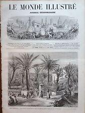 LE MONDE ILLUSTRE 1873 N 834 LA RECOLTE DES PALMES POUR LES RAMEAUX A BORDIGHERA