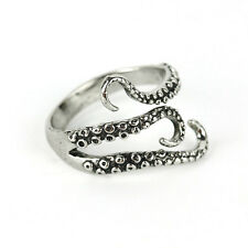 Fashion Stainless Steel Octopus Ring Biker Finger Rings Gothic Jewelry Free Size