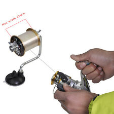 Portable Aluminum Fishing Line Reel Spooler Spool Winder Winding System Tackle