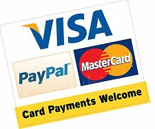 Card Payments Welcome PayPal 150x120mm Credit Card Vinyl Sticker Shop Taxi