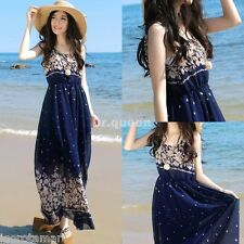 HOT Maxi Boho Summer Long Skirt Evening Cocktail Party Ladies Womens Dress