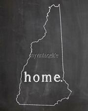 """NEW HAMPSHIRE HOME STATE PRIDE 2"""" x 3"""" Fridge MAGNET CHALKBOARD CHALK COUNTRY"""