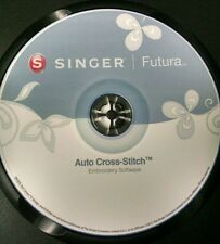 Singer Futura XL 400,420,500,550,580 & SESQ Auto Cross Stitch Software & Bonus