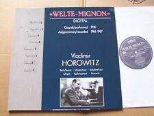 VLADIMIR HOROWITZ,WELTE-MIGNON lp m-/vg+ FOC intercord rec. 160.864 Germany 1988