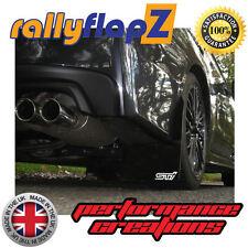 rallyflapZ SUBARU IMPREZA 15 Modèle Bavette STi noir petit format blanc 4mm PVC