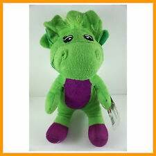 "Barney The Dinosaur 12"" Sing I LOVE YOU song Green Plush Soft Toy Doll + CHARM"
