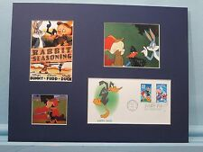 """Rabbit Seasoning"" with Bugs Bunny & the First day Cover of Daffy Duck stamp"