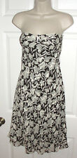 ANN TAYLOR SIZE 2 100% silk DRESS SEMI FORMAL OCCASION STRAPLESS EUC FLORAL FALL