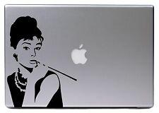 """Apple MacBook Air Pro 13"""" AUDREY HEPBURN Retro Sticker Adesivo Skin Decalcomanie"""