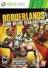 Borderlands: Game Of The Year Edition Xbox 360 Game Complete