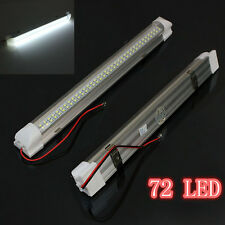 Universal Car Auto Caravan Interior 72 LED White Light Strip Lamp On/Off Switch