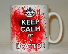 Keep Calm I'm A Doctor Blood Splatter Mug Can Be Personalised Funny Bloody Gift