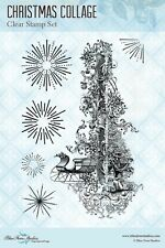 Blue Fern Studio Clear Photo-Polymer Stamp- Christmas Collage - The Rubber Buggy