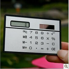 Credit Card Sized Ultra-thin Portable Solar Powered 8-Digit Calculator GZ