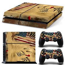 PlayStation 4 PS4 Console Skin Decal Sticker Desert War + 2 Controller Skins Set