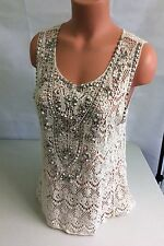 ECOTE Urban Outfitters Boho Knit Top Sequins Women's Medium
