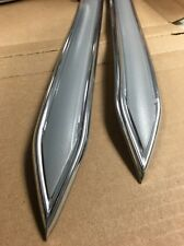 """Vintage type 1 1/4 """" 1.25""""  Silver with Chrome body side molding pointed ends"""