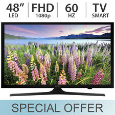 "Samsung 48"" Inch Full HD 1080p Smart LED LCD TV 60Hz w/ 3 HDMI & USB - UN48J520D"