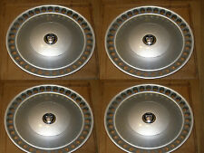 NEW GENUINE JAGUAR XJ40 XJ6 METRIC WHEEL TRIMS HUB CAPS & NEW CENTRE CAP BADGES