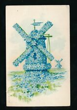 Flower forget me not Windmill 1906 PPC Forget Me Not Land Series #475