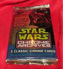 Star Wars Chrome Archives Trading Cards Pack - NEW unopened - 5 cards per pack