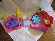 Fisher Price Little People Disney Princess Palace Castle Rose Fold Go Belle part