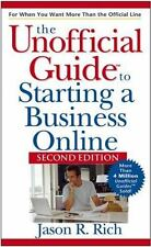 Unofficial Guide to Starting a Business Online by Rich, Jason R., Good Book