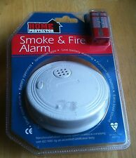 HOME PROTECTOR SMOKE & FIRE ALARM BATTERY OPRERATED  NEW & SEALED