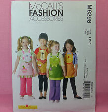 McCall's 6298 Dog Frog Cat Bunny Child's Aprons Pattern 3 Designs NEW