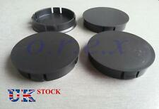 4x 60mm dia Black Wheel Rim Center Caps fit AUDI SKODA OPEL SEAT VOLKSWAGEN BMW