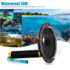 TELESIN Underwater Diving Camera Lens Dome Port Floaty Grip for GoPro Hero O6H5