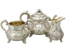 Sterling Silver Three Piece Tea Service - Antique Victorian