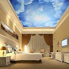 3D Blue Sky Clouds Backdrop Mural Wallpaper Ceiling Decal Wall Stickers Decor