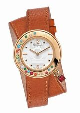 Ferragamo Women's F64SBQ50001 S012 Gancino Sparkling Gold IP Topaz Leather Watch